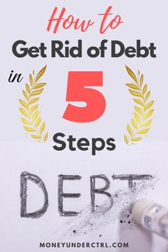 If you are looking for fully transparent and straightforward steps on how to get rid of debt, you're in the right place! We are going to go over 5 steps that will help you eliminate your car loans, personal loans, student loans, credit card debt or any other debt that you have.   #debt #getoutofdebt #money #budgeting #budget # Ways To Save Money, How To Make Money, Money Tips, How To Get Rid, How To Find Out, Paying Off Credit Cards, Get Out Of Debt, Managing Your Money