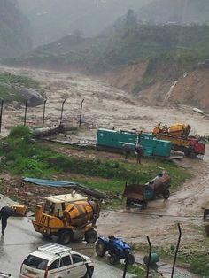 Floods in Bhilangna River near Ghuttu village