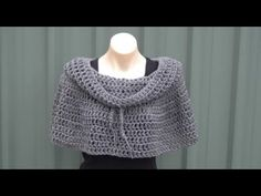 ▶ Cowl Neck Poncho Crochet Tutorial - YouTube http://www.youtube.com/watch?v=1HGBiSOGAOc=em-subs_digest-vrecs