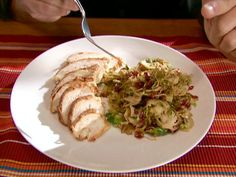 Get Brussels Sprouts with Pecans and Cranberries Recipe from Food Network