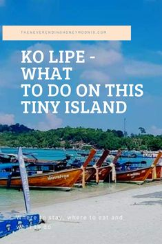 Koh Lipe - What to do on this Tiny Island - The Neverending Honeymoon Travel Deals, Travel Guides, Ko Lipe, Beach Drinks, Diving Course, Relaxing Places, Small Island, Best Places To Eat, Activities To Do