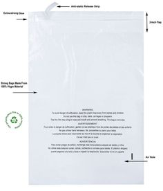 300 Combo Pack Strong Glue Self Seal Clear Poly Bags with Suffocation Warning #PackZoom