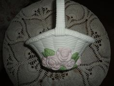 Spring Time Ceramic Rose Flowered Easter Basket by TammysFindings, $15.00