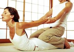 Beautiful stretch in Thai massage.  So much more delicious when someone does it for you ;o)