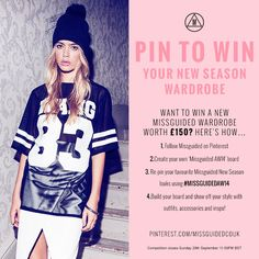 Want to #win a new #Missguided Wardrobe worth £150? You've got until the #competition closes on Sunday 28th September 11:59PM 2014 BST to enter – good luck!