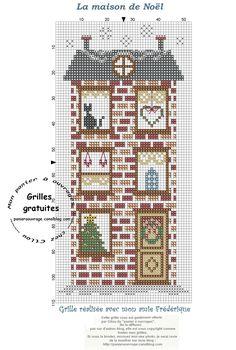 Maison de Noël  Mon panier à ouvrage
