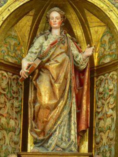 Talla de María Magdalena en el retablo de la catedral de Getafe (Madrid)