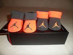 NIB NIKE Jordan Baby Boys Infant CRIB SHOES Booties Socks LOT 0-6M Newborn NEW