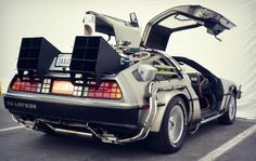 """Replica """"Back to the Future"""" DeLorean Back To The Future Tattoo, Bttf Delorean, Time Travel Machine, Hot Wheels, Delorean Time Machine, Ready Player One, Us Cars, New Journey, Cars Motorcycles"""
