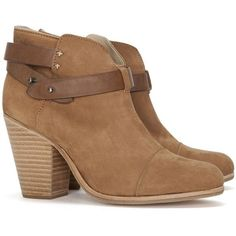 Rag & Bone Harrow Booties: Tan ❤ liked on Polyvore