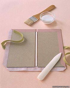 Envelope Books: Cloth Binding How-To | Martha Stewart #BooksBinding