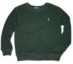 NWT Ralph Lauren Boys Collegiate Green Sweatshirt Size 6 #RalphLauren #Everyday