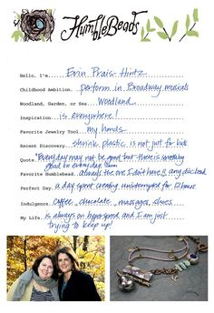 Designer interview with Erin Prais-Hintz.