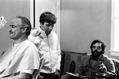 Give them a vote for this masterpiece! Marlon Brando, Al Pacino and Francis Ford Coppola in The Godfather (1972) __ #thegodfather #movie #cultfilm #cultmovie #photo #blackandwhite #black #white #movie #actor #oscar #sofiacoppola #donvitocorleone #deniro #francisfordcoppola #alpacino #cinephilecommunity #camera #robertdeniro #director #marlonbrando #cinema #movienight #film #films #robertduvall #marlonbrando #dianekeaton #corleone #cinephile #coppola