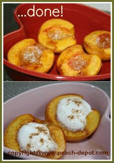 Peaches Baked in Oven