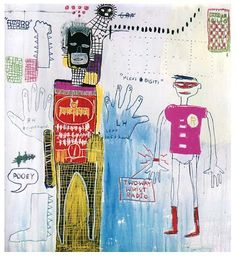 "Jean-Michel Basquiat: Piano Lesson (for Chiara), ""I don't think about art… Jean Michel Basquiat Art, Jm Basquiat, Basquiat Tattoo, Illustration Photo, Illustrations, Graffiti Art, Basquiat Paintings, Art Doodle, Guggenheim Bilbao"