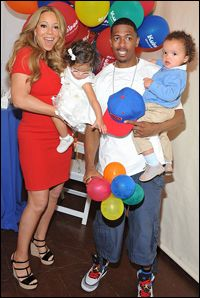 Mariah, Nick, and Dem Babies at Nick's 32nd Birthday Party