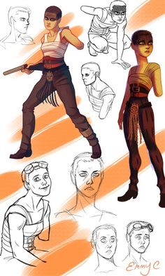 Mad Max doodles from the past few days. Imperator Furiosa, Character Art, Character Design, Arte Nerd, Mad Max Fury Road, Tv Show Games, Post Apocalypse, Beautiful Stories, Tag Art