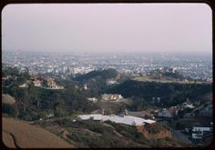 Feb. 19, 1952: Hollywood seen from Mulholland Drive at Pacific View Terrace(Photo by Charles W. Cushman)