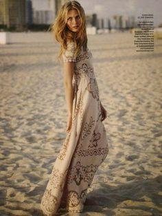 boho floor length dress