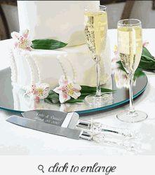 Wedding Toasting Glasses - Wedding Toasting Flutes - Beach Champagne Flutes