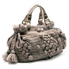 Gifts for mom-happy holidays-Handmade Beige Knit Bag, Celebrity Style,Crochet winter Crochet Tote, Crochet Purses, Knit Crochet, Fashion Mode, Fashion Bags, Angelina Jolie, Popcorn Stitch, Crochet Winter, Tapestry Crochet