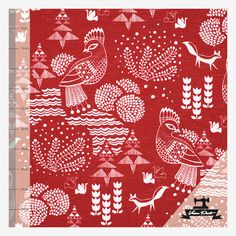 Soulbird (Sielulintu) by Elina Antila Printing On Fabric, Kids Outfits, Print Fabrics, Birds, Quilts, Blanket, Cool Stuff, Decor, Clothes For Kids