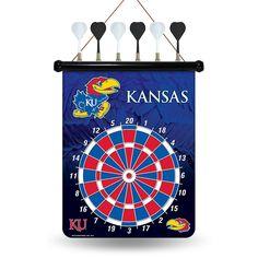 Kansas Jayhawks NCAA Magnetic Dart Board