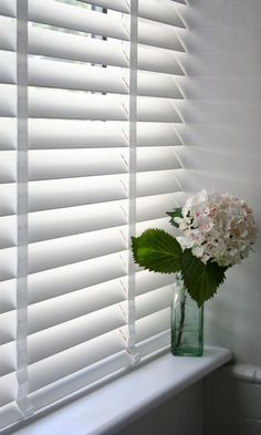 Our Deluxe Puritan Wooden blind certainly gives a room a lovely finish. Add tape to create impact. www.web-blinds.com