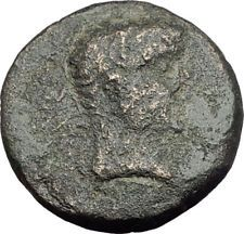 TIBERIUS 14AD Colonists Founding PARIUM with OXEN Ancient Roman Coin i64658