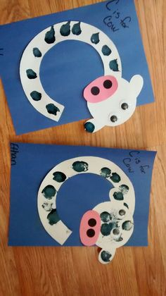 Letter C for cow - letter crafts preschool alphabet Letter C Activities, Preschool Letter Crafts, Alphabet Letter Crafts, Abc Crafts, Preschool Projects, Daycare Crafts, Preschool Learning Activities, Classroom Crafts, Toddler Activities