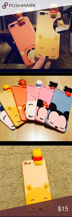 Cute Phone Case Disney Characters iPhone Case These are cute iPhone cases available for iPhone 6, 6 Plus, 6S, 6S Plus, 7, 7 Plus, iPhone 8, iPhone 8 Plus! Just let us know what phone model you have when you purchase!   Super cute Disney Phone Case (Donald, Micky, Minnie, Winnie the Pooh, and more!)   Great gift idea for any birthdays or anniversaries! Shipping is free! Message for any additional questions Accessories Phone Cases
