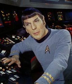 Spock #startrektheoriginalseries#spock#leonardnimoy#ussenterprise Star Trek Enterprise, Star Trek Voyager, Star Trek Tv, Star Wars, Star Trek Universe, Marvel Universe, Space Story, Star Trek Original, Leonard Nimoy