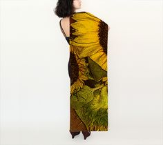 SUNFLOWER GODDESS SILK SCARF-STREETCHIC BY ARA preview