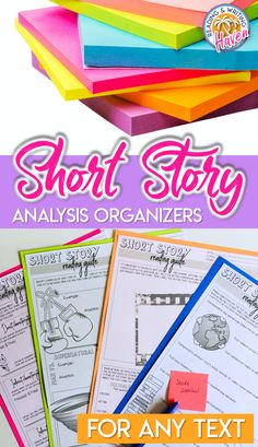 The standards-aligned questions in these short story graphic organizers will help middle and high school students to think more deeply about what they read. Mix and match pages to fit different focuses. Use with any short story or novel! #MiddleSchoolELA #HighSchoolELA #GraphicOrganizers #LiteraryAnalysis High School Literature, Teaching Literature, Teaching Reading, Middle School Ela, Middle School English, Writing Workshop, Workshop Ideas, Social Studies Classroom, Secondary Teacher