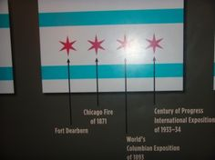 Bet you didn't know what it stood for.....Chicago's flag and what each star represents.