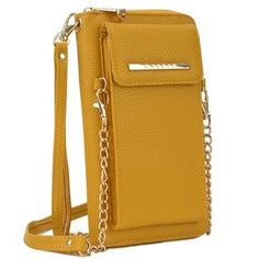 Dasein All-In-One Crossbody Wallet with Phone Case and Detachable Chain Strap (Tan), Women's (leather) Clutch Wallet, Leather Wallet, Pu Leather, Black Leather, Vegan Leather, Crossbody Messenger Bag, Crossbody Shoulder Bag, Shoulder Bags, Handbags Online