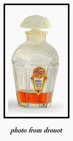 *Julien Viard designed this bottle for Gueldy 1922 for the perfume -Gotic