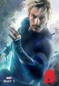 Quicksilver character poster. Avengers: Age of Ultron.