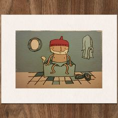 Wes Anderson THE LIFE AQUATIC with Steve Zissou by MonsterGallery on Etsy
