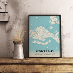 Now available in our store: Premium Map Poste... Check it out here! http://shop.mapprints.co/products/premium-map-poster-of-venice-italy-diner-retro-unframed-venice-map-art?utm_campaign=social_autopilot&utm_source=pin&utm_medium=pin