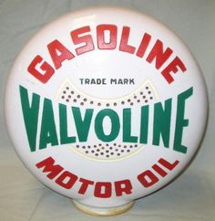 Advertising Globe for Valvoline Gasoline and Motor Oil.