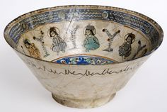 Earthenware Mina'i ceramic bowl, probably made in Rhages, Persian, 12th century © CSG CIC.