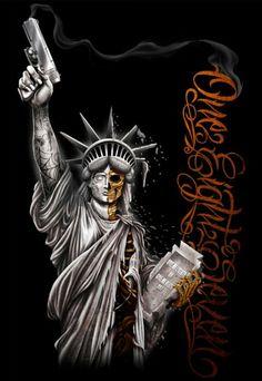 Statue of Liberty Skull