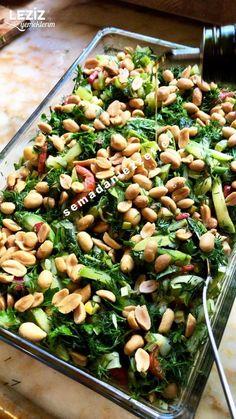 Nohutlu Fıstıklı Kabak Salatası ( Bayılacaksınız)