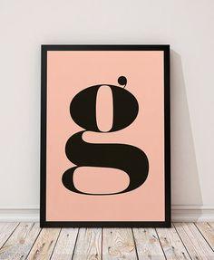 G letter, Letters poster, Letter print, Modern art print, Scandinavian design, Minimalist print, Wall art, Home decor, Typography print
