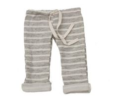 Image of Grey Striped Gauzy Beach Pants Link to mabo kids store