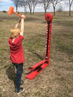 Items similar to Kid Sized High Striker Strong Man Carnival Game. Perfect for Trade Show, Rental, Birthday, Church, VBS or School Party. Carnival Games on Etsy Homemade Carnival Games, Carnival Games For Kids, Diy Carnival, Games For Teens, Adult Games, Backyard Games, Outdoor Games, Game Booth, Orange Games