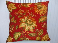 Hey, I found this really awesome Etsy listing at https://www.etsy.com/listing/93017228/red-floral-pillow-cover-20x20-decorative