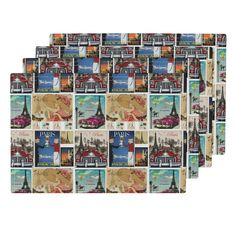 Lamona Cloth Placemats featuring Paris Vacation by floramoon_designs   Roostery…
